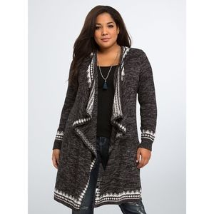 Torrid | Fair Isle Border Maxi Cardigan | 2
